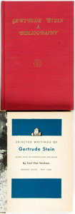 Books:Books about Books, Gertrude Stein. Selected Writings of Gertrude Stein. New York: Random House, [1946]. First edition, first printing. ... (Total: 2 Items)