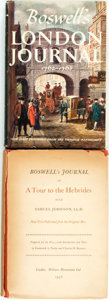 Books:Travels & Voyages, James Boswell. Boswell's Journal of A Tour to the Hebrides with Samuel Johnson. Two editions, one 1936 and one 1950.... (Total: 2 Items)