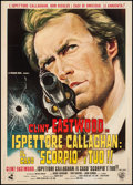 "Movie Posters:Crime, Dirty Harry (Warner Brothers, 1972). First Release Italian 2 -Foglio (39.5"" X 55""). Crime.. ..."