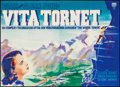 "Movie Posters:Adventure, The White Tower (RKO, 1950). Swedish Poster (54"" X 39"").Adventure.. ..."