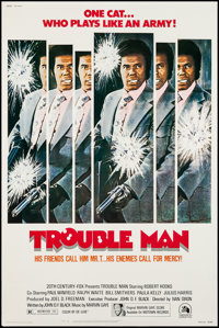 "Trouble Man (20th Century Fox, 1972). Poster (40"" X 60""). Blaxploitation"