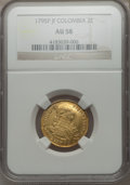 Colombia, Colombia: Charles IV gold 2 Escudos 1795 P-JF AU58 NGC,...