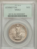 Commemorative Silver: , 1925 50C Lexington MS62 PCGS. PCGS Population (329/4316). NGCCensus: (211/3622). Mintage: 162,013. Numismedia Wsl. Price f...