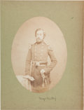 Photography:Cabinet Photos, Union Major Theodore Winthrop Salt Print Photograph....
