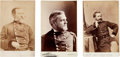 Photography:Cabinet Photos, Three Cabinet Cards of Union Generals: John Newton (circa1875), Thomas G. Pitcher (circa 1870), and J... (Total: 3 )