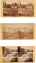 Photography:Stereo Cards, Civil War Stereoview: Three Views of the Antietam Battlefield by Alexander Gardner.... (Total: 3 )