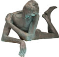 Fine Art - Sculpture, American, VICTOR SALMONES (Mexican, 1937-1989). Narcissus. Bronze withgreenish-brown patina. 47 inches (119.4 cm) long. Ed. PA. S...