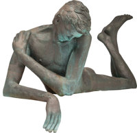 VICTOR SALMONES (Mexican, 1937-1989) Narcissus Bronze with greenish-brown patina 47 inches (119.4