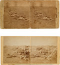 Photography:Stereo Cards, Civil War Stereoviews: Two Scenes From the Battle of Antietam From Negatives by Alexander Gardner.... (Total: 2 )