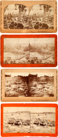 Photography:Stereo Cards, Civil War Stereoviews. Lot of Four Stereo Cards of Wounded and Dead Soldiers.... (Total: 4 )