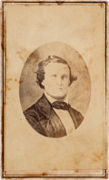 Photography:CDVs, Jefferson Davis Carte de Visite Sold by the Ladies' Southern Aid Association to Benefit the Family of Jefferson Da...