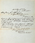 Autographs:Military Figures, Emory Upton: War-date Autograph Letter Signed....
