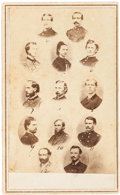 Photography:CDVs, George Armstrong Custer and Staff Carte de Visite....