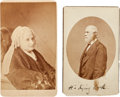 Photography:CDVs, Robert E. Lee and Mary Custis Lee Cartes de Visite by Photographer Michael Miley.... (Total: 2 Items)