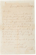 Autographs:Military Figures, Robert E. Lee Autograph Letter Signed... (Total: 2 )