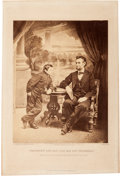 Photography:Studio Portraits, Alexander Gardner: President Lincoln and His Son Thaddeus Albumen Print on a Gardner Mount....