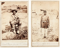 Samuel Pryor: Pair of Cartes de Visite of a Union Soldier