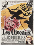 """Movie Posters:Hitchcock, The Birds (Universal International, R-1983). French Grande (46"""" X61""""). Hitchcock.. ..."""