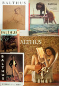 Books:Art & Architecture, Group of Five Books on Balthus. Various publishers and editions. Octavo to folio sized. Publisher's bindings and wraps. Some... (Total: 5 Items)