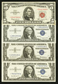 Small Size:Group Lots, A Quartette of Small Size Star Notes. . ... (Total: 4 notes)
