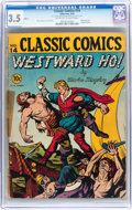 Golden Age (1938-1955):Classics Illustrated, Classic Comics #14 Westward Ho - Original Edition (Gilberton, 1943)CGC VG- 3.5 Off-white to white pages....