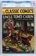 Golden Age (1938-1955):Classics Illustrated, Classic Comics #15 Uncle Tom's Cabin - Original Edition (Gilberton,1943) CGC FN/VF 7.0 Cream to off-white pages....
