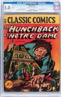 Golden Age (1938-1955):Classics Illustrated, Classic Comics #18 The Hunchback of Notre Dame - Original Edition(Gilberton, 1944) CGC VG/FN 5.0 Cream to off-white pages....