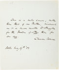 Autographs:Statesmen, Charles Sumner Autograph Quote Signed....