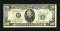 Error Notes:Ink Smears, Fr. 2064-L $20 1950E Federal Reserve Note. Fine.. ...