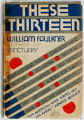 Books:Literature 1900-up, William Faulkner. These Thirteen. New York: Jonathan Cape& Harrison Smith, [1931]. First edition, first printing. P...