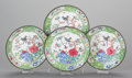 Asian:Chinese, A SET OF FOUR CHINESE PEKING ENAMELED PLATES, 19th century. 8inches diameter (20.3 cm). ... (Total: 4 Items)