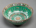Asian:Chinese, A CHINESE FAMILLE VERTE PORCELAIN CENTERBOWL, 19th century. 10-1/2inches diameter (26.7 cm). ...