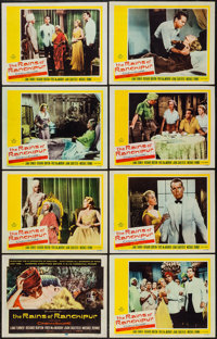 """The Rains of Ranchipur & Other Lot (20th Century Fox, 1955). Lobby Card Sets of 8 (2) (11"""" X 14""""). Dra..."""