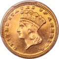 Proof Gold Dollars, 1889 G$1 PR64 PCGS....