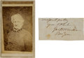 Autographs:Military Figures, General John H. Winder Carte de Visite and Clipped Signature.... (Total: 2 )