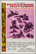 "Movie Posters:Western, Cheyenne Autumn (Warner Brothers, 1964). One Sheet (27"" X 41"") & Lobby Card Set of 8 (11"" X 14""). Western.. ... (Total: 9 Items)"