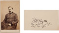 Photography:CDVs, General William B. Hazen: Carte de Visite and Signed Card.... (Total: 2 )