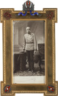 Military & Patriotic:WWI, Austrian Emperor Franz Joseph I Signed Photograph in a Superb Imperial Presentation Frame....