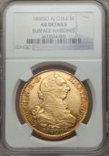 Chile, Chile: Carlos IV gold 8 Escudos 1800 So-AJ AU Details (SurfaceHairlines) NGC,...