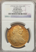 Chile, Chile: Charles IV gold 8 Escudos 1791 So-DA XF Details (Chopmarked)NGC,...