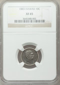 Coins of Hawaii: , 1883 10C Hawaii Ten Cents XF45 NGC. NGC Census: (50/244). PCGSPopulation (89/324). Mintage: 250,000. ...