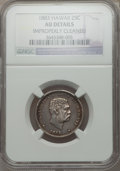 Coins of Hawaii: , 1883 25C Hawaii Quarter -- Improperly Cleaned -- NGC Details. AU.NGC Census: (27/1089). PCGS Population (84/1459). Mintage...