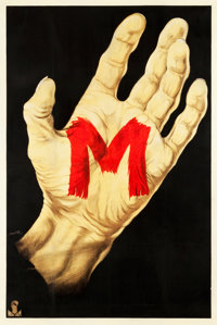 "M (Nero-Film AG, 1931). German Poster (37.5"" X 56"")"