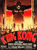 "Movie Posters:Horror, King Kong (RKO, 1933). French Grande (46"" X 62.25"") Style A.. ..."