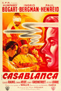 "Movie Posters:Academy Award Winners, Casablanca (Warner Brothers, 1940s). First Post-War Release French Affiche (31.5"" X 46.5"").. ..."