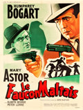 Movie Posters:Film Noir, The Maltese Falcon (Les Films Regence Algerie/Maghreb UniFilm/SONADEC, R-1950s) Artist Jacques Bonneaud. French Grande(47....