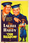 "Movie Posters:Comedy, Our Relations (MGM, 1936). Poster (40"" X 60"").. ..."
