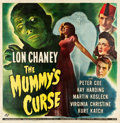 "Movie Posters:Horror, The Mummy's Curse (Universal, 1944). Six Sheet (79"" X 81.5"").. ..."
