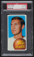 Basketball Cards:Singles (1970-1979), 1970 Topps Jerry West #160 PSA NM-MT 8....
