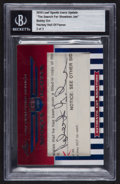 """Hockey Cards:Singles (1960-1969), 2010 Leaf Sports Icons Update """"The Search for Shoeless Joe"""" Bobby Orr Cut Signature Insert #'d 2 of 3. ..."""